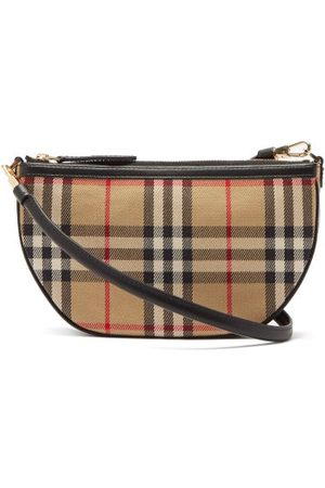 Burberry Olympia Vintage-check Canvas Shoulder Bag - Womens - Multi