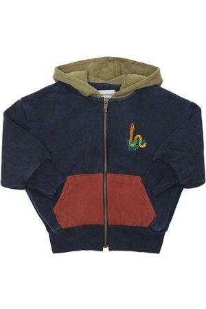 BOBO CHOSES Zip-up Organic Cotton Sweatshirt Hoodie