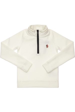 Moncler Boys Turtlenecks - Logo Patch Turtleneck Sweatshirt