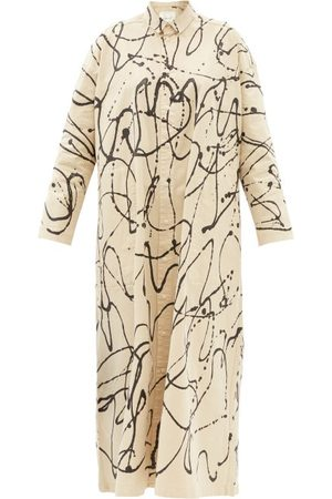 TOOGOOD Women Casual Dresses - The Draughtsman Painted-twill Shirt Dress - Womens