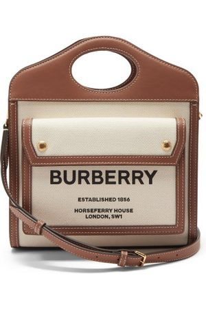 Burberry Women Purses - Pocket Mini Leather-trim Canvas Cross-body Bag - Womens - Multi