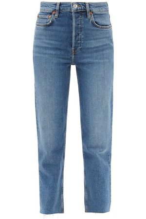 RE/DONE Stove Pipe High-rise Straight-leg Jeans - Womens - Mid Denim