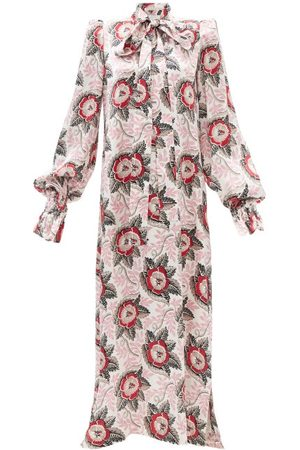 The Vampire's Wife Women Printed Dresses - The Fortune Teller Poppy-print Silk Gown - Womens