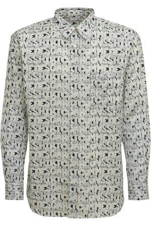 Comme des Garçons Men Shirts - Kaws Printed Cotton Poplin Shirt