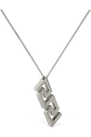 VERSACE Greek Motif Charm Necklace
