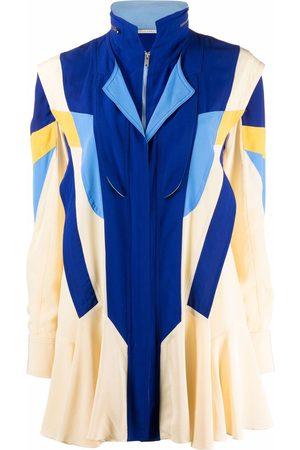 Stella McCartney Women Dresses - Monica panelled silk dress - Neutrals