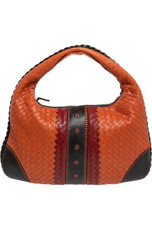 Bottega Veneta Intrecciato Leather And Karung Trim Hobo Bag