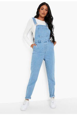 Boohoo Women Jeans - Womens Tall Denim Dungarees - - 2