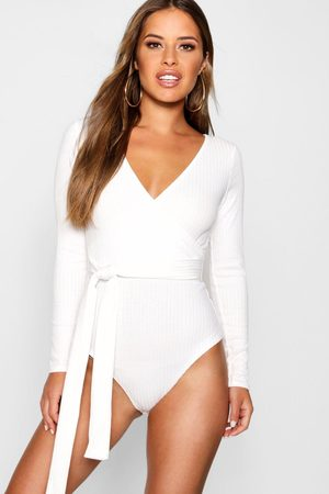 Boohoo Womens Petite Recycled Knitted Wrap One Piece - - 2