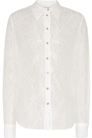 Casablanca Men Shirts - Shell chantilly lace shirt