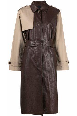Pinko Women Trench Coats - Two-tone trench coat