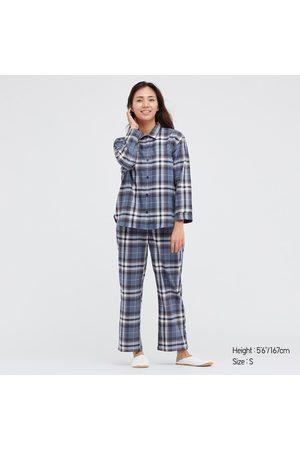 UNIQLO Women Long sleeves - Women's Flannel Long-Sleeve Pajamas, , XS