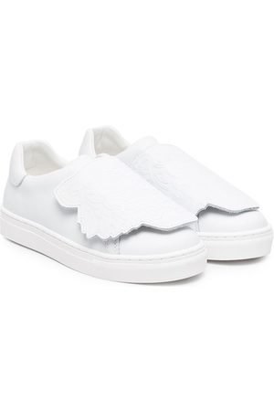 Kenzo Girls Sneakers - Tiger-patch low-top sneakers