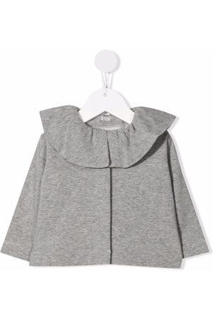 Il gufo Cardigans - Ruffle neck cardigan - Grey