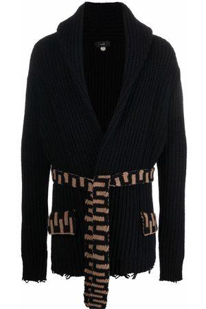 Alanui Men Cardigans - Tie-fastening knitted cardigan