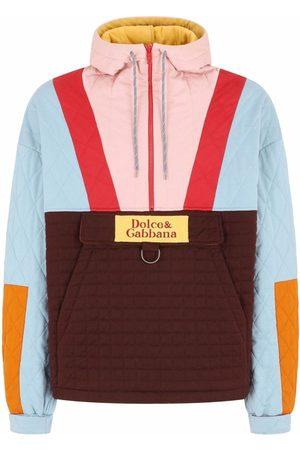 Dolce & Gabbana Men Hoodies - Colour-block half-zip hoodie