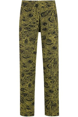 AMIR SLAMA Abstract-print cotton trousers
