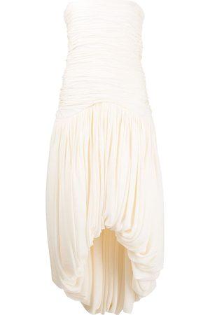 Khaite Women Strapless Dresses - Shivani strapless dress - Neutrals