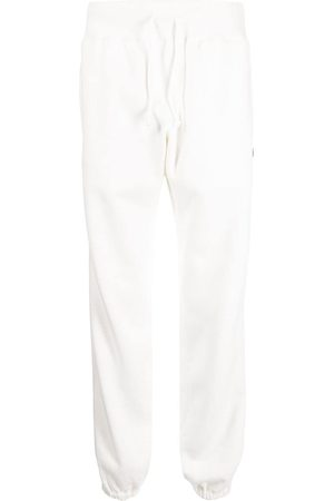 UNDERCOVER Logo-embroidered drawstring cotton track pants