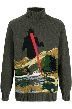 UNDERCOVER Men Turtlenecks - Patterned intarsia-knit roll-neck jumper