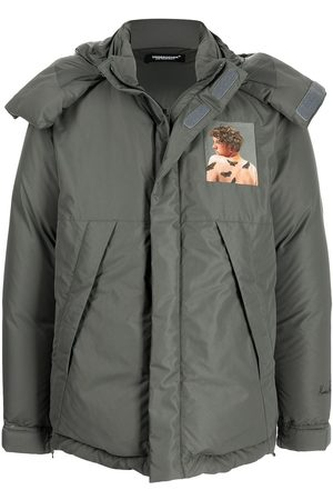 UNDERCOVER Men Puffer Jackets - Graphic-print feather-down padded jacket