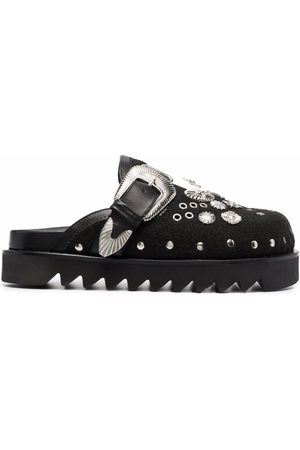 TOGA PULLA Women Mules - Stud-embellished buckle-detail mules