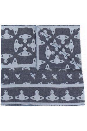 Vivienne Westwood Orb-knit tassel-trim scarf
