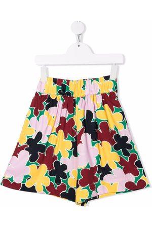 Marni Boys Shorts - Floral-print high-waisted shorts