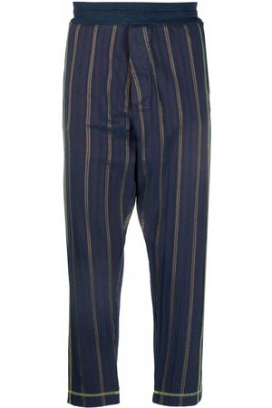 Vivienne Westwood Men Sweatpants - Contrast-stitching tapered trousers