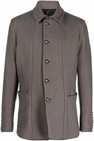 MASNADA Patch-pockets single-breasted jacket