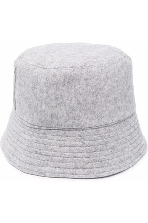 Msgm Embroidered bucket hat - Grey