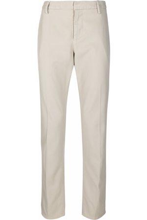 DONDUP Men Chinos - Slim straight-leg chino trousers - Grey