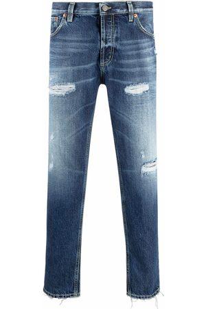 DONDUP Stonewashed straight-leg jeans