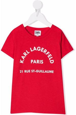 Karl Lagerfeld Girls Short Sleeve - Logo-print short-sleeve T-shirt