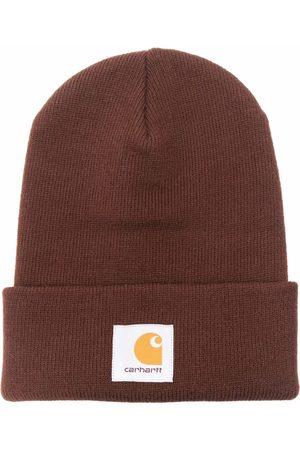 Carhartt Men Beanies - Logo-patch knitted beanie