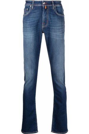 Jacob Cohen Men Slim - Logo-embroidered slim-fit jeans