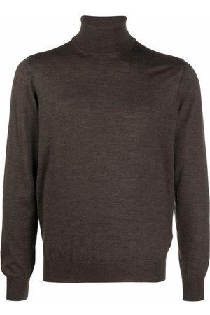 TAGLIATORE Men Turtlenecks - Ribbed-knit roll neck sweater