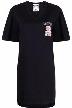 Moschino Women Printed Dresses - Teddy Bear print T-shirt dress