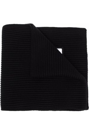 Dsquared2 Scarves - Ribbed-knit embroidered-logo scarf