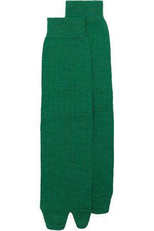 Maison Margiela Men Socks - Ribbed knitted Tabi socks