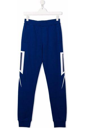Neil Barrett Sweatpants - TEEN side-panelled slim joggers