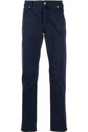 Jacob Cohen Men Skinny Pants - Paisley-detail slim cut trousers