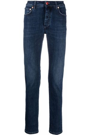 BARBA Men Slim - Five low-rise straight leg jeans