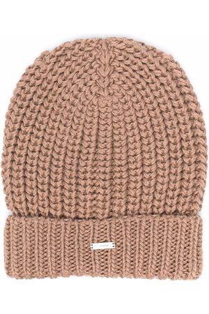 LES HOMMES KIDS Boys Beanies - Chunky ribbed knit beanie