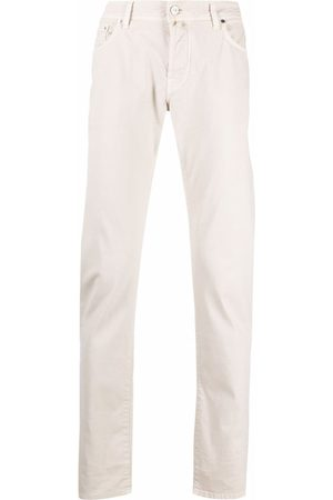 Jacob Cohen Men Chinos - Straight-leg washed chinos - Neutrals