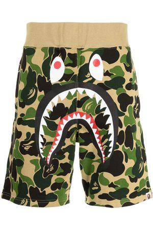 A Bathing Ape Men Sports Shorts - Camouflage print logo track shorts
