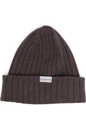 Woolrich Men Beanies - Ribbed-knit logo-patch beanie
