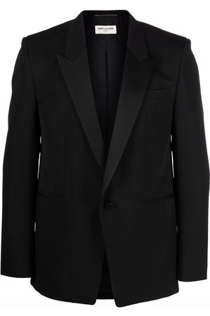Saint Laurent Men Blazers - Single-breasted tuxedo jacket