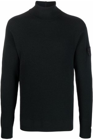 Stone Island Men Turtlenecks - Logo-patch roll-neck jumper