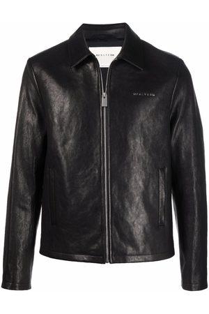 1017 ALYX 9SM Leone logo-lettered zip-front leather jacket